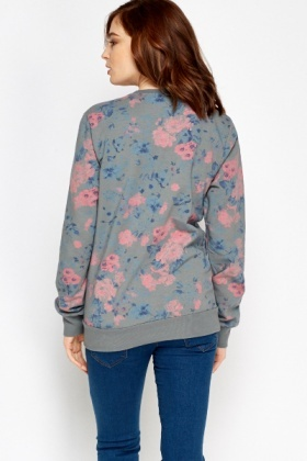 Multi Floral Cotton Sweater