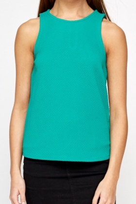 Textured Green Shell Top