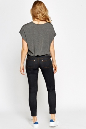 Charcoal Encrusted Jeggings