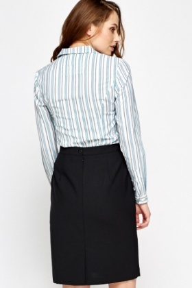 Formal Striped Blouse