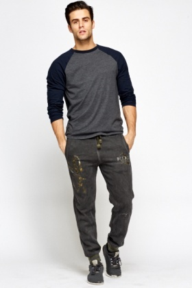 Distressed Cotton Joggers