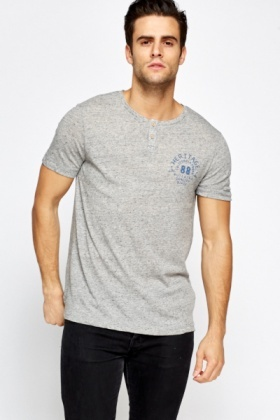 Grey Cotton Blend T-Shirt