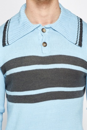 Large Collar Striped Jumper