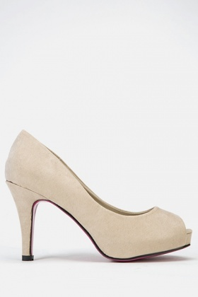 Mid Formal Suedette Heels