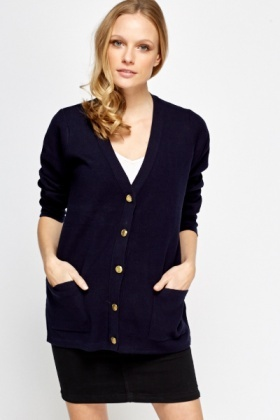 Gold Button Oversized Cardigan - Just £5