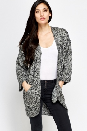 Speckled Oversize Cardigan