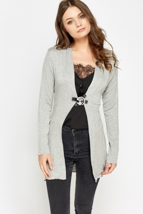 Encrusted Brooch Cardigan
