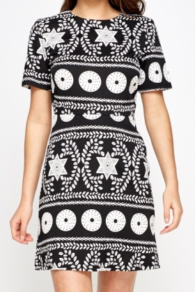 Mix Ornate Print Dress