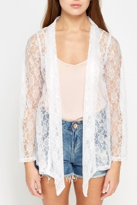 White Lace Cardigan - Just £5