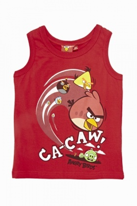 Red Angry Birds Vest Top