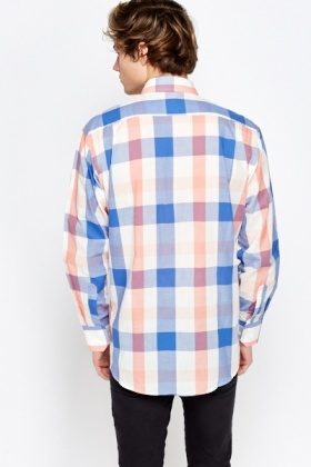Checkered Blue Slim Fit Shirt