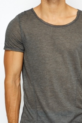 Distressed Casual T-Shirt