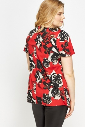 Rose printed Blouse