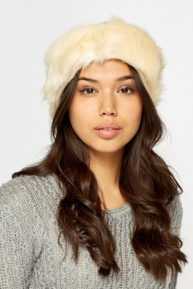 Faux Fur Cream Headband
