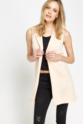 Peach Open Jacket