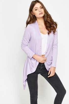 Pleated Side Cardigan