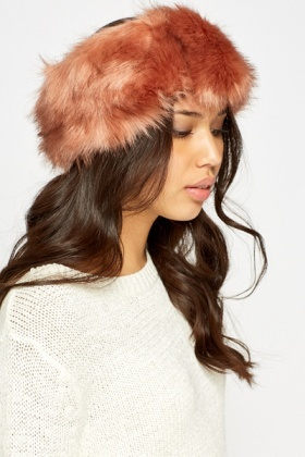 Rust Faux Fur Headband