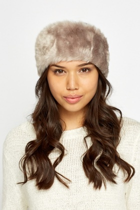 Taupe Faux Fur Headband