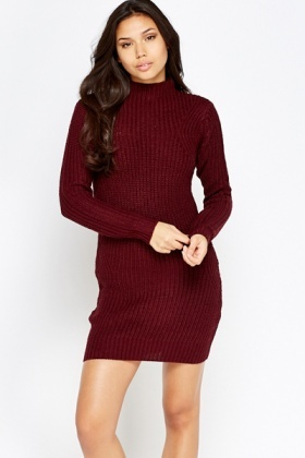 High Neck Jumper Dress