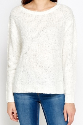 Knitted Basic Thick Jumper