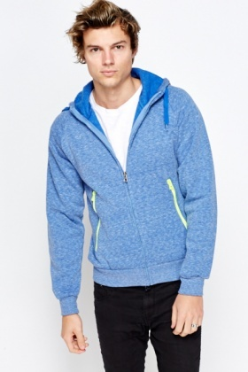 Contrast Cotton Hoodie