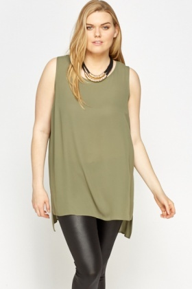 Silky Olive Top