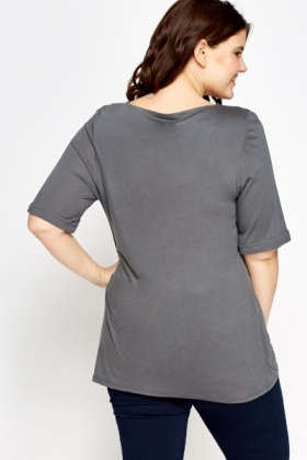 Square Neck Long Top