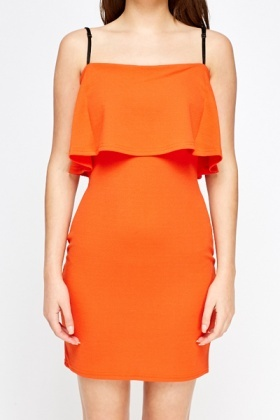 Orange Overlay Dress