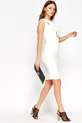 Off White Cut Out Dress - Just £5