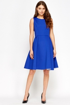 Royal Blue Evening Skater Dress Just 163 5