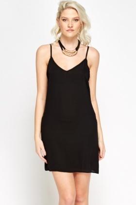 Black spaghetti straps dress
