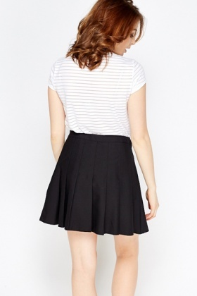 Black Pleated Mini Skirt - Just £5