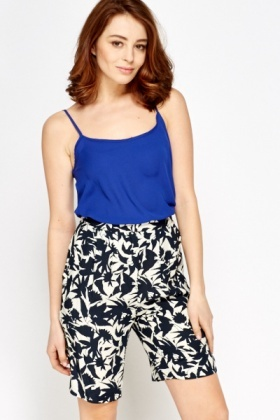 Royal Blue Casual Cami Top