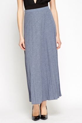 Middle Blue Maxi Skirt