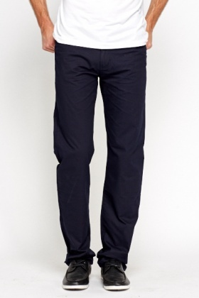 Basic Fitted Chino Trousers