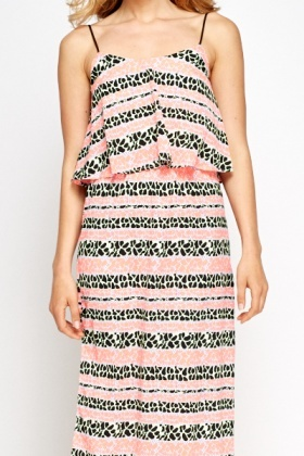Maxi Overlay Printed Dress
