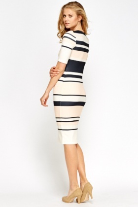 f0a710dbaec Colour Block Striped Midi Dress - Just £5