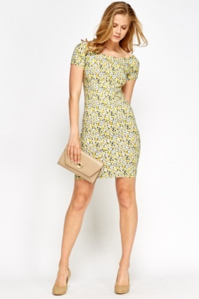 Yellow Multi Floral Dress