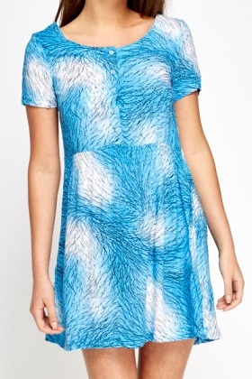 Light Blue Mix Print Dress