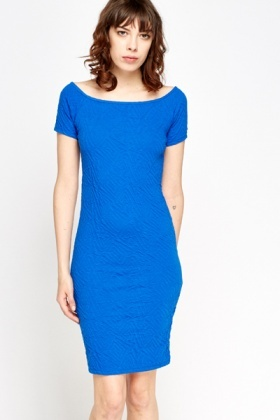 Textured Midi Bodycon Dress