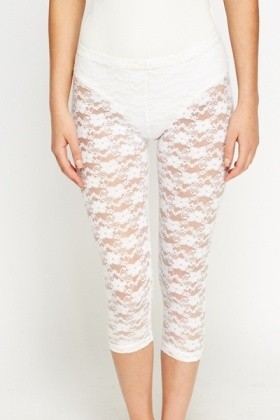 Cropped Lace Leggings