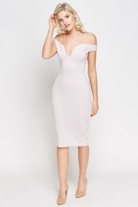 Plunge Lilac Bodycon Dress