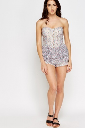 Overlay Floral Playsuit