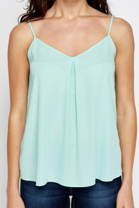 Mint Pleated Cami Top