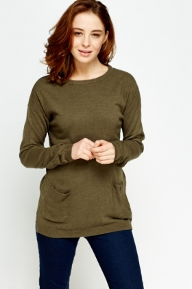Soft Knit Pocket Side Jumper