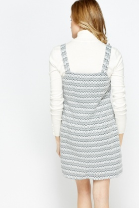 Zig Zag Pinafore Dress