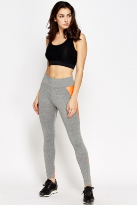 Contrast Skinny Joggers