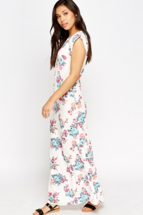 Cap Sleeve Floral Maxi Dress Just 5