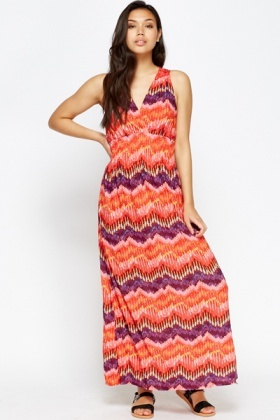 Crochet Back Maxi Dress