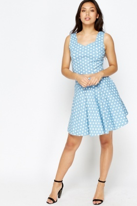 Polka Dot Top And Skirt Set
